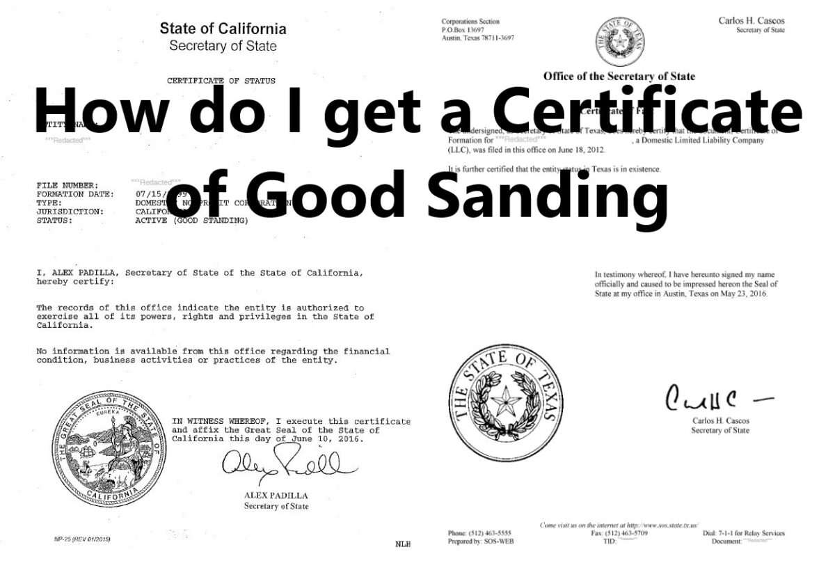 how do i get a certificate of good standing